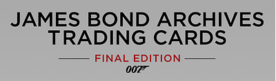James Bond Archives 2017 Final Edition trading card  Mini Master set W/BINDER