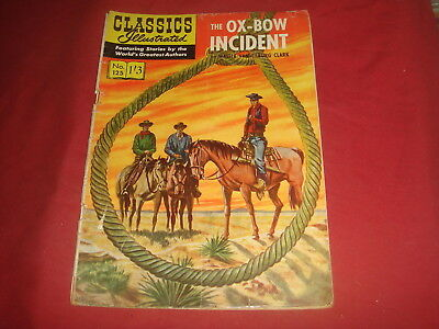 CLASSICS ILLUSTRATED #125 The Ox-Bow Incident British Strabo VG-