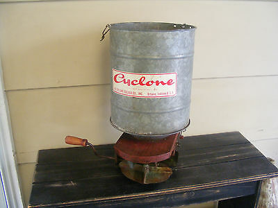 Vintage Cyclone Seeder Antique Decorative Works