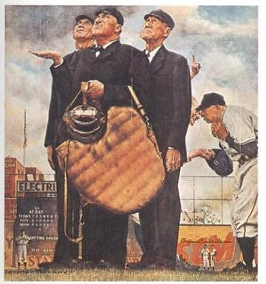 """Norman Rockwell Baseball print """"UMPIRES"""" / """"BOTTOM OF THE SIXTH"""" 8x10"""" or 11x15"""""""