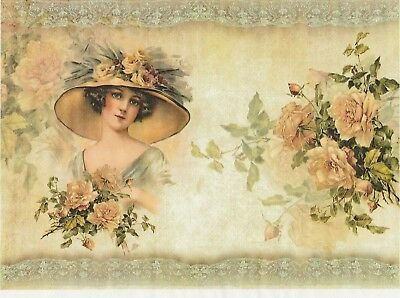 Rice Paper for Decoupage Scrapbook and Craft Woman 584