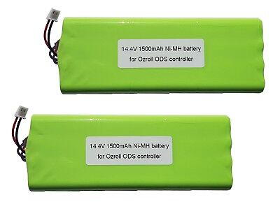 2 x OZRoll Battery Replacement for Smart Drive Roller Shutter Remote 1500MAH