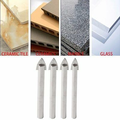 4 Pcs 6/8/10/12 mm Marble Glass Spear Head Cretive Drill Bits Ceramic Tile Tool