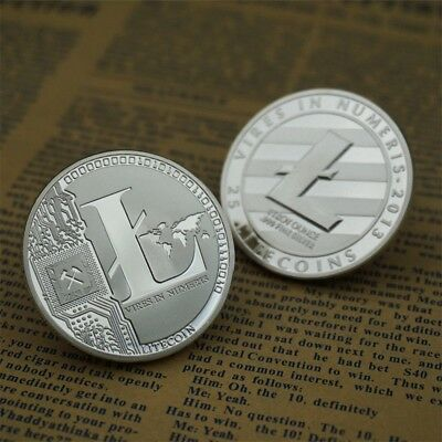 Silver Plated Litecoin Coins Vires in Numeris Commemorative Coin Collection HM