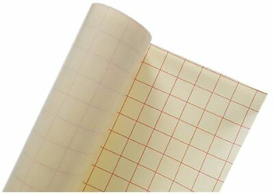 "VinylxSticker CLEAR 12"" X 30' Foot Roll Transfer Paper Tape with Grid - Perfect"