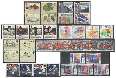 1988 Royal Mail Commemorative Sets MNH. Sold separately & as full year set.