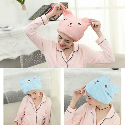 Microfiber Cap Shower Caps Towel Cute Soft Fabric 30*26cm Washing Women