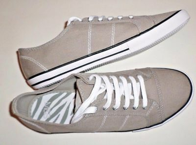 New Boy's Plimsoles Beach Sand Shoes Marks & Spencer Khaki Canvas Lace Up