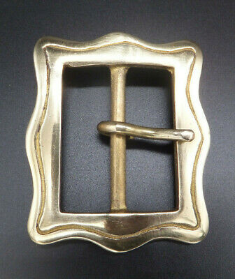 "CAST SOLID BRASS [ 2"" -  50 mm ][ RE ENACTMENT ]  BELT BUCKLE Leather craft"
