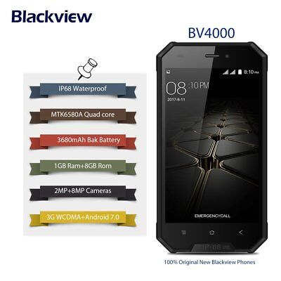 Blackview BV4000 3G Smartphone Handy IP68 Android7.0 8GB 2SIM 4Core Wasserdicht