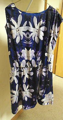 Womens Joe Fresh Black Blue FLORAL CASUAL CAREER DRESS SZ M NWT NEW Medium