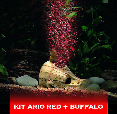 Hydor Ario - Buffalo Red Deco Aeration Bubble Maker LED Light Aquarium Fish Tank