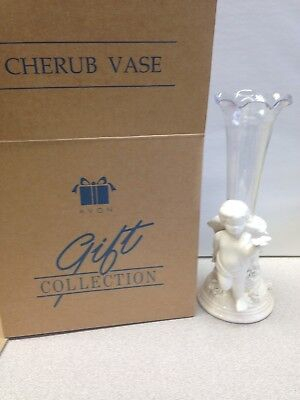 Avon Collection  Cherub Vase 2002  Nib
