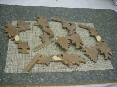 Black Forest German-Made Cuckoo Clock Toppers Decorative Parts Repair Work D067