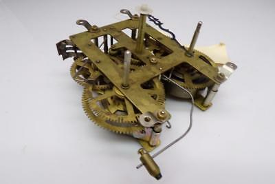 """""""India"""" No Jewel Unadjusted Brass Unsigned Mantle Clock Movement Parts  E411"""