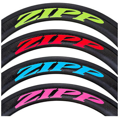 Zipp Decal Set: 404 Matte Red Logo, Complete for One Wheel