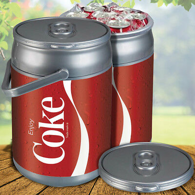 NEW Enjoy Coca-Cola Coke Can Shaped 9 Quart Hard Sided Picnic Cooler w/ Handle