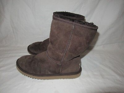 101f5a9896c UGG CLASSIC SHORT Boots Sheepskin Suede 5825 Black Grey Chocolate ...