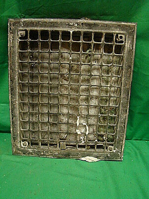 Vintage 1920S Iron Heating Grate Square Design 14 X 12 F