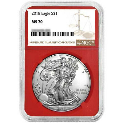 2018 $1 American Silver Eagle NGC MS70 Brown Label Red Core
