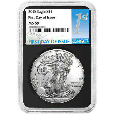 2018 $1 American Silver Eagle NGC MS69 FDI First Label Retro Core