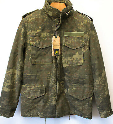 reputable site 4384e 61a22 NEW** ALPHA INDUSTRIES US Army Camouflage Spotted Green Camo Driver Jacket-  Sz M