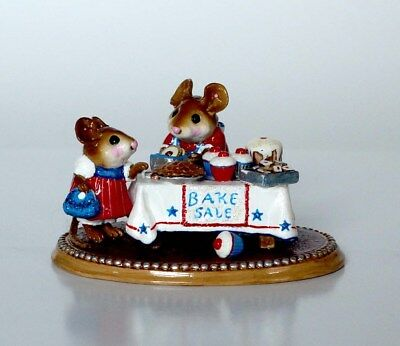 NEW Wee Forest Folk Mousey's Bake Sale M-220s Ltd. Edition Red White Blue July 4