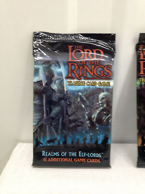 LOTR TCG Realms of the Elf Lords - 2 Packs of Boosters - Sealed