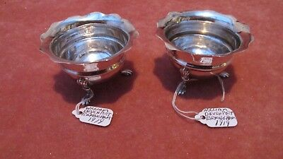 A Superb Large Pair Solid Silver of Open Salts by W Devenport HM Birmingham 1919
