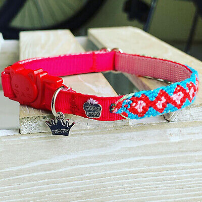 handmade collars with safety breakaway buckle for cats FREE SHIPPING USA