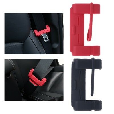 Universal Car Seat Belt Buckle Silicone Covers Clip Anti-Scratch Cover