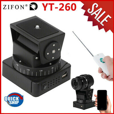 Zifon YT-260 Remote Control Motorized Tripod Pan Tilt Head for Camera Smartphone