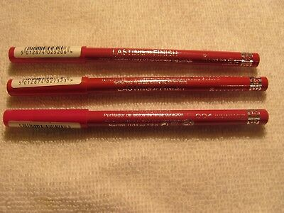 RIMMEL EXAGGERATE FULL COLOUR LIP LINER 1000 Kisses #004 Indian Pink Lot of 3