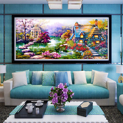IT- Large 5D Diamond Embroidery Kit Landscape Diamond Painting Home Room Decor G