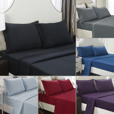 2pcs Pillowcases Cushion Cover Pillowcase Standard Queen King Size Solid Color