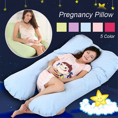 AU Maternity Pregnancy Pillow Bolster Sleeping Body Support Comfortable Feeding