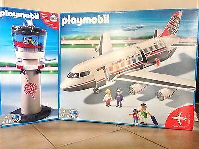 Playmobil Jumbo Jet (4310) und Tower (4313)