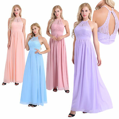 womens wedding dress chiffon evening party long formal prom bridesmaid dresses