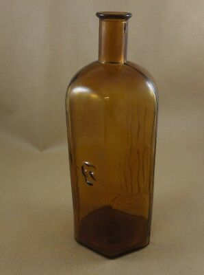 Alte Apotheker Gift Flasche Totenkopf Glas 25 cm antique pharmacy  poison bottle