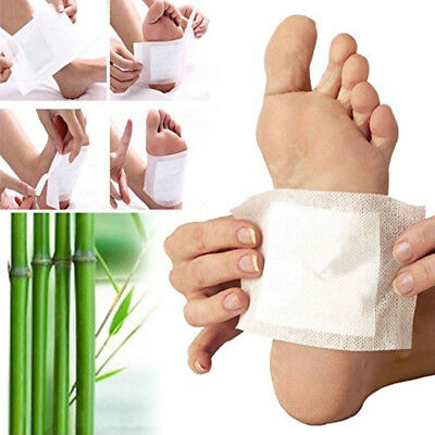 Body Detox Foot Pads x 10 Detoxing Cleansing Patch Ginger Salt With Sticky Pad