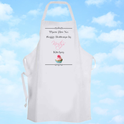 Personalised Vintage Style Bake Off Baking Cooking Apron Ideal Birthday Gift