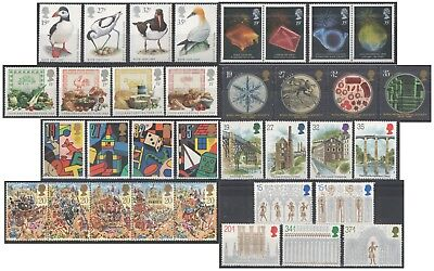 1989 Royal Mail Commemorative Sets MNH. Sold separately & as full year set.