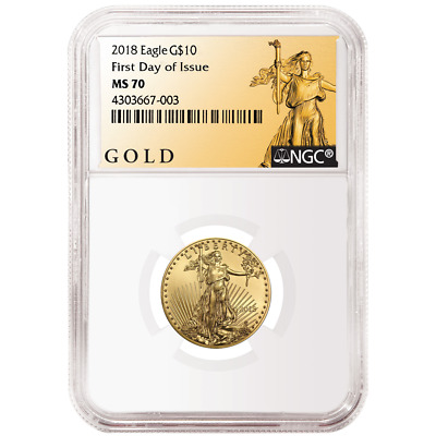 2018 $10 American Gold Eagle 1/4 oz. NGC MS70 FDI ALS Label