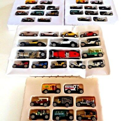 4 Different Unused Vintage Sets of  Old Timer Classic Toy Cars-No Box's-43 Total