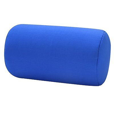 Micro Bead Roll Bed Chair Cushion Neck Head Soft Support Couch Pillow Blue