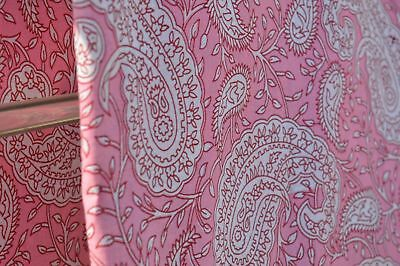 2.5 Yards Cotton Voile Hand Block Ikat Print Fabric Natural Dyes Sanganer Indian