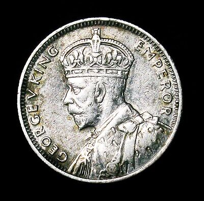 1936 Mauritius 1/4 Rupee Silver Coin AU About Uncirculated