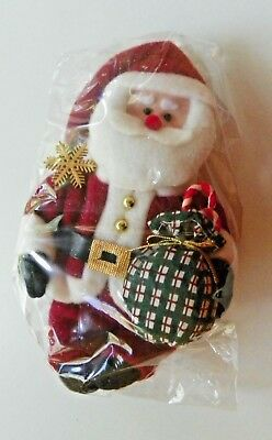 Nib Avon Gift Collection Santa Fabric Ornament