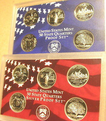 1999  SILVER & CLAD  10  PROOF coins from Mint proof Sets no box or COA'S