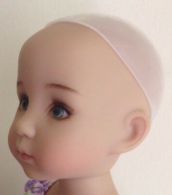 """New Secure Soft SILICONE Doll Wig Cap 7-8"""" Fits BJD Effner Little Darling Etc"""